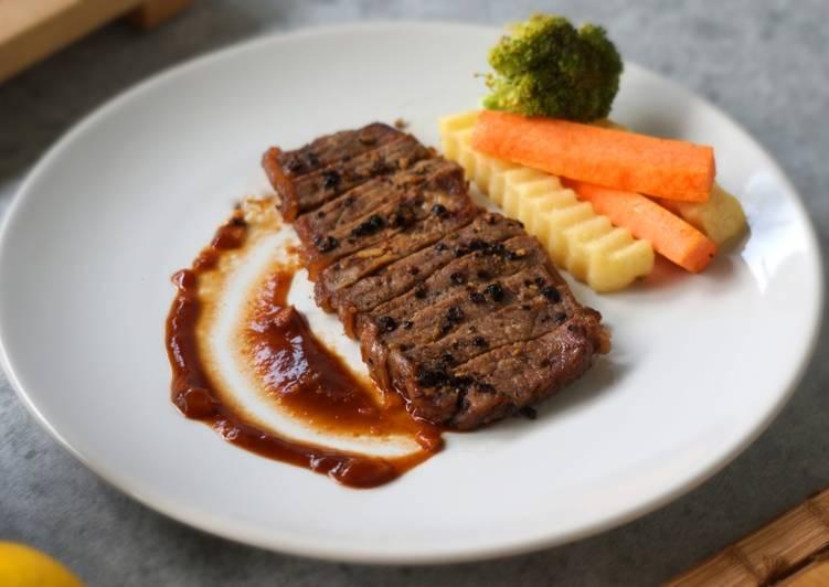 cara buat steak daging sapi rumahan