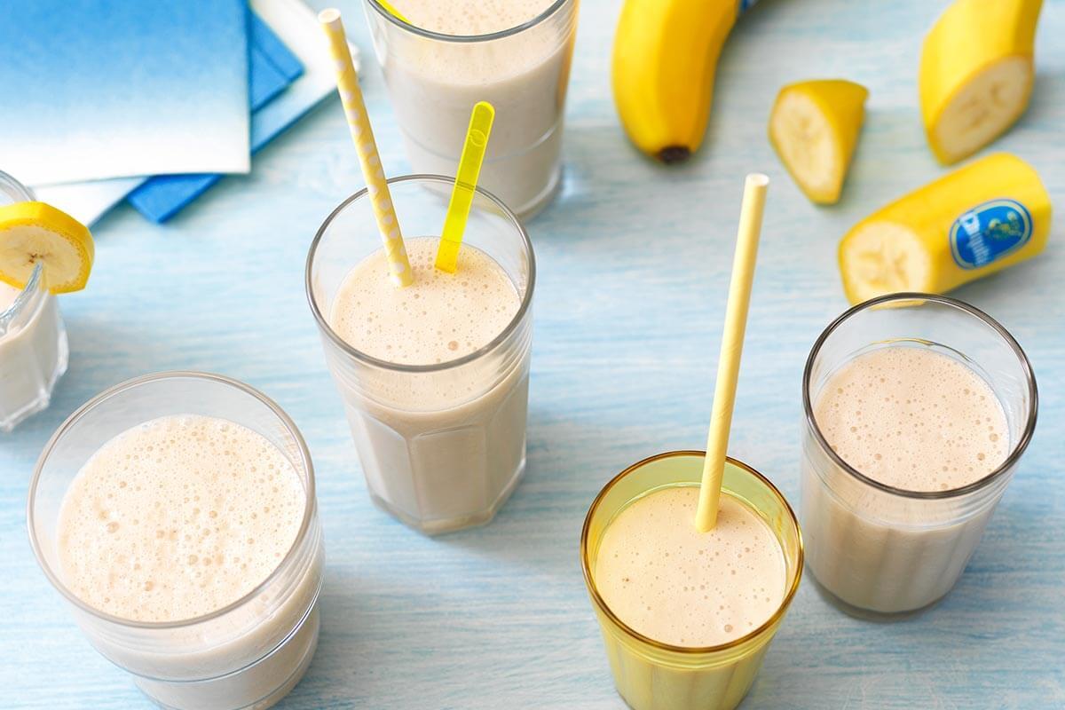 cara buat banana smoothies